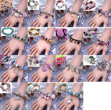 15+ Styles Charm Heart Crystal Beads Stone Bracelet Fashion For Women Girl Lady