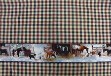 Country Vintage look New Tea Towel Quality Cotton quilted access Snow Horses x 1