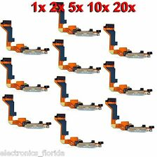 * LOT Charging Dock Port Connector Flex Cable for Iphone 4 Charger GSM white b84