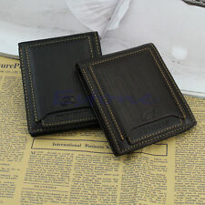 Men's Leather ID Credit Card Holder Clutch Bifold Money Wallet Purse Pockets