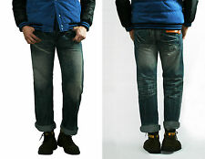 [Clearance Sale] New Men's Premium Indigo Washing Denim Pants Jeans in Loose Fit