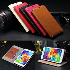 Flip Stand Real Cow Leather Card Set Skin Case Cover for Samung/iPhone/HTC/SONY