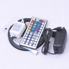 5M 5050 SMD RGB LED Strip Light 300 LEDs+24/44 Key IR Remote+12V 2A Power