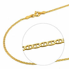 14K Solid Yellow Gold 1.8mm Mariner Chain Necklace