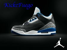 Nike Air Jordan Retro 3s  Sport Blue   With Receipt