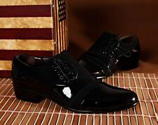 Mens dress formal  patent leather oxford Casual party black Wedding Office shoes