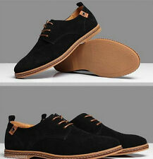 NEW 2014 Suede European style leather Shoes Men's oxfords Casual Shoes- Black 04