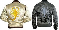 DRIVE SCORPION RIDER TRUCKER RYAN GOSLING SATIN JACKET WITH EMBROIDERED SCORPION