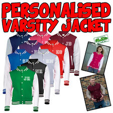 NEW Personalised American Varsity Letterman College Baseball Jacket S M L XL XXL