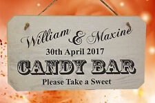 PERSONALISED Wedding CANDY BAR Sign - Bride & Groom's Names - Sweet Table Sign