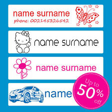 60 IRON-ON School Name Labels Tags tag iron-on SUPER NAME LABELS Australian SHOP