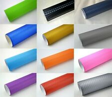 3D Carbon Fiber Texture Vinyl Wrap Sticker Decal Film Sheet Roll 12 Color Hot