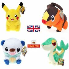 "Pokemon Large Plush Soft Toy 30cm/12"" - Pikachu Oshawott Tepig Snivy Official"