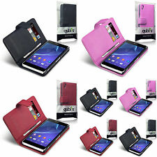 SONY XPERIA Z2 WALLET STYLE PHONE CASE PU LEATHER COVER BY QUBITS