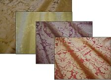 Designer Windsor Traditional Damask Faux Silk Curtain Upholstery Fabric per mtr