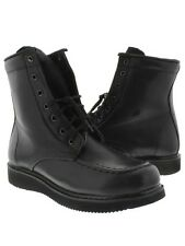 mens black leather work shoes tough durable boots casual dress heavy duty high