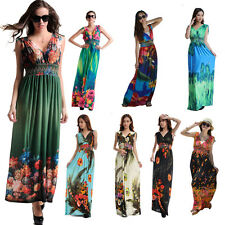 Plus Size UK 8-36 L-6XL Summer Womens Ladies Long Evening Party Boho Maxi Dress