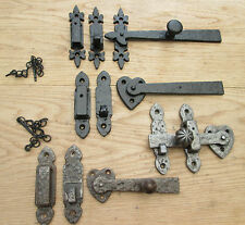 CAST IRON OLD VICTORIAN VINTAGE STYLE CUPBOARD DOOR GATE LATCH BAR CATCH