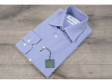 Ede & Ravenscroft £95 Blue Slim Fit Gingham Shirt Mother Of Pearl Buttons