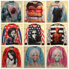 Hot Mens Womens 3D Space Galaxy Sweatshirt sweater Pullover Top Jumper S/M/L/XL