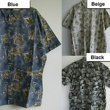New Aloha Casual Tropical Print Shirts BIG & TALL Button front a chest pocket