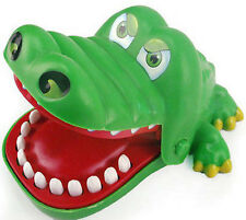 New Crocodile Mouth Dentist Bite Finger Game Funny Toy with keychain for Child