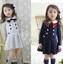 New Style Fashion Kids Toddler Girls Clothes Clothing Sweet Dresses Skirt Sz2-7Y