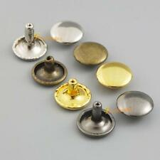"Double Stud Rivet Round Cap Leather 6mm 8mm 10mm 12mm 15mm 1/4"" 3/10"" 3/8"" 1/2"""