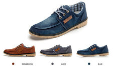 Hot Man's British Suede Oxfords Leather Lace Flat Sneaker Loafer Shoes