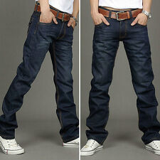 Classic Fashion Men's Straight Slim Fit Denim Trousers Casual Jean Pants