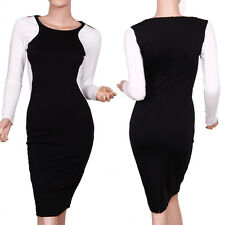New Celebrity Women Splicing Wear To Work Business Evening Cocktail Party Dress