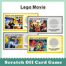 Personalised Scratch Off Card Game LEGO MOVIE HERO Ninjago Turtle Bubble Guppies