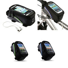 """Large 5.5"""" Roswheel Bike Bicycle Front Tube Frame Pannier Phone Holder Pouch Bag"""