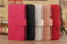 5 Colors Choice Lucky Girls Wallet Pouch Flip PU Leather Case for Samsung Phones