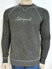 Life Is Good Aiden Lambswool Raglan Sweater Mens Gray Long Sleeve New NWT