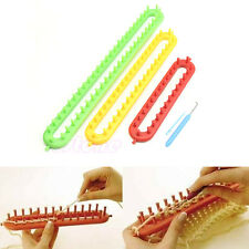 3 Size ABS Plastic Loom For Scarf Shawl Hat Socks Long Knit Knitter Knitting