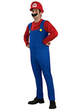 MENS Costume Fancy Dress Up GF Red Super Mario Brothers Mario Size S,M,L,XL