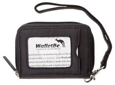 WalletBe Women's Microfiber Accordion Wallets, Wristlet, Outer ID, Zip Around