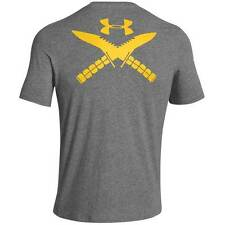 Under Armour Heatgear Tactical Knife Logo T Shirt Carbon Gray 1246270