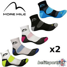 MORE MILE MENS WOMENS LADIES LONDON ANKLE RUNNING SPORTS CUSHIONED SOCKS 2