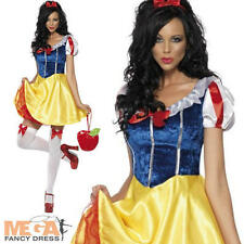 Snow White Fever Fairytale Fancy Dress Ladies Adult Womens Costume Book Outfit