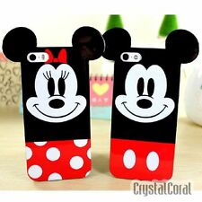 3D Cartoon Case For iPhone 5 5S 6 Disney Mickey Minnie Soft Sillicone Back Cover