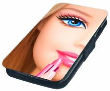 Barbie Girl Printed Faux Leather Flip Phone Cover Case