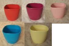 "4"" Jenna Ceramic Pot cover Available in Red, Pink, Yellow, Rasberry or Blue"