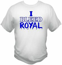 Kansas City Royals Inspired I Bleed Royal T-Shirt KC Tee Shirt AL MLB White Blue