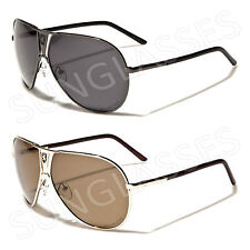 New Black Polarized Aviator Retro Vintage Mens Ladies Unisex Large Sunglasses