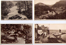 OLD POSTCARD SELECTION LYNTON & LYNMOUTH DEVON HARBOUR MARS HILL WATERSMEET