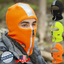 Balaclava Safety Reflector Tape Zipper Face Winter Mask Cold Weather US PATENT