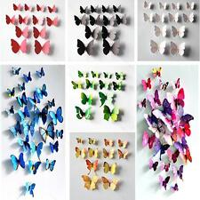 12pcs 3D Wall Sticker Butterfly Home Decor Room Decoration Stickers BUSC 7Colors