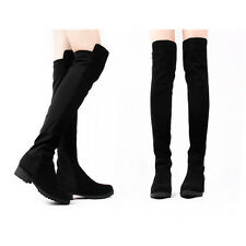 Fashion Winter Female Lady's Shoes Over-the-knee Women's Long Flat Boots XWX323
